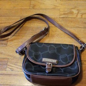 🛍 Chaps brown and black patterned crossbody bag